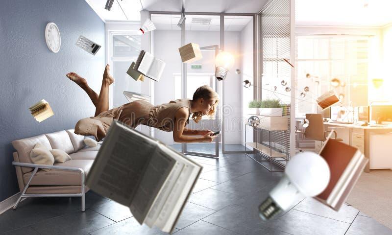 Expanding the imagination. Mixed media royalty free stock photography