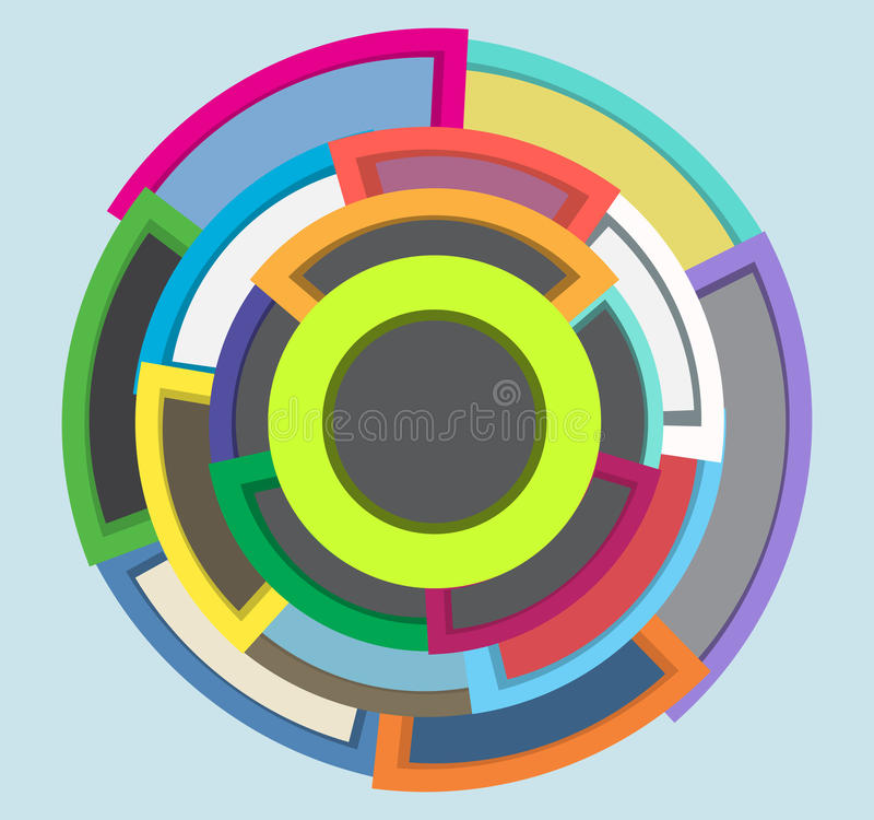 A expansão circunda as formas que introduzem no mercado o projeto abstrato ilustração royalty free
