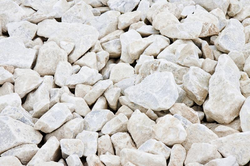 Expanse of white gravel. Useful image as background royalty free stock photos
