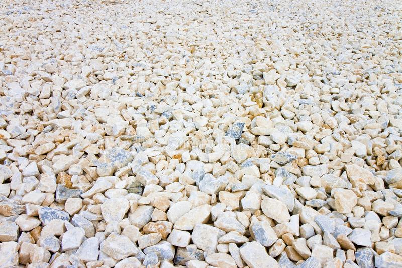 Expanse of white gravel. Useful image as background royalty free stock images