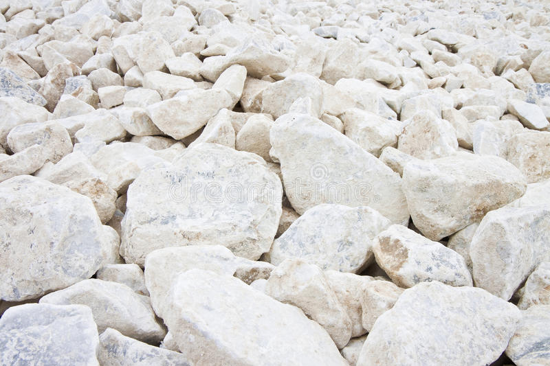 Expanse of white gravel stock photography