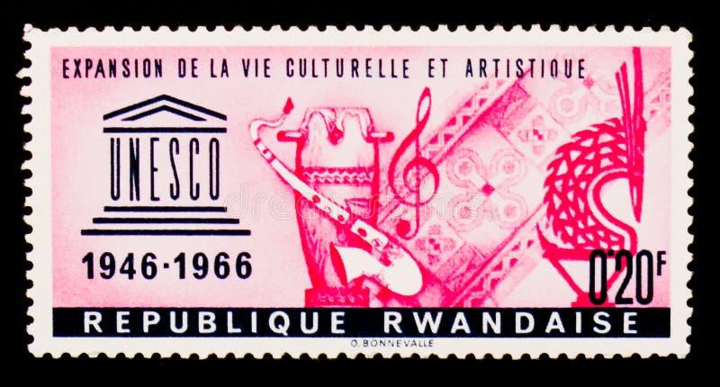 Expansion de la vie culturelle et artistique, série d'anniversaire de l'UNESCO 20ème, vers 1966 images libres de droits