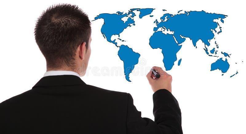 Expansion du marché global images stock