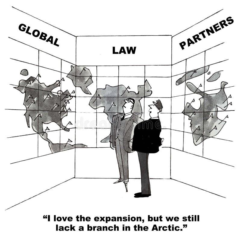 Expansion globale de cabinet d'avocats illustration libre de droits