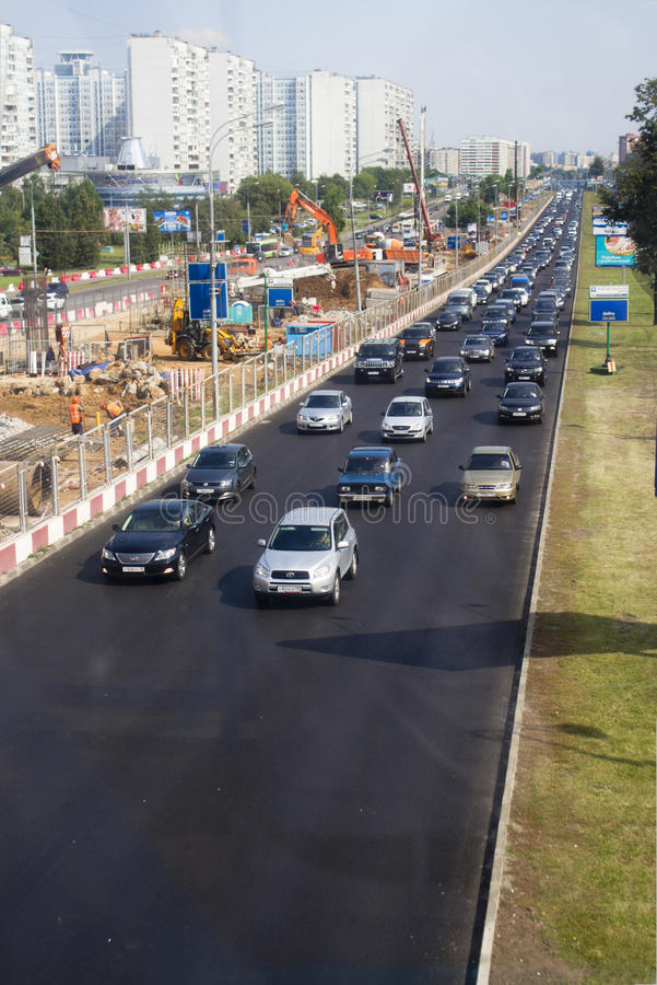 Download Expansion Of A Road, Moscow, Krilatskoe Editorial Stock Photo - Image: 25623748