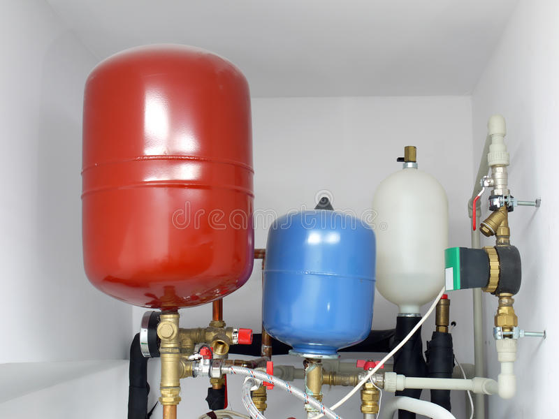 Expansion tanks stock images