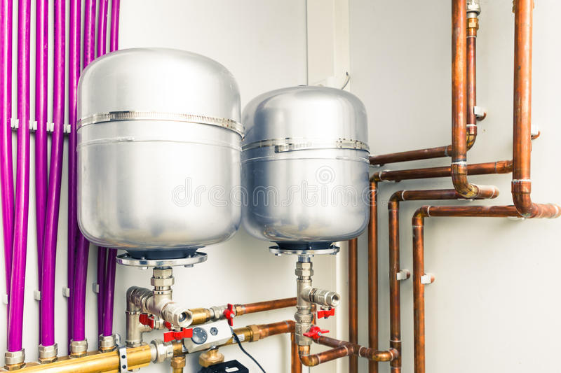 Expansion tanks royalty free stock photography