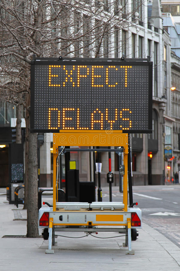 Free Expect Delays Royalty Free Stock Image - 22485826