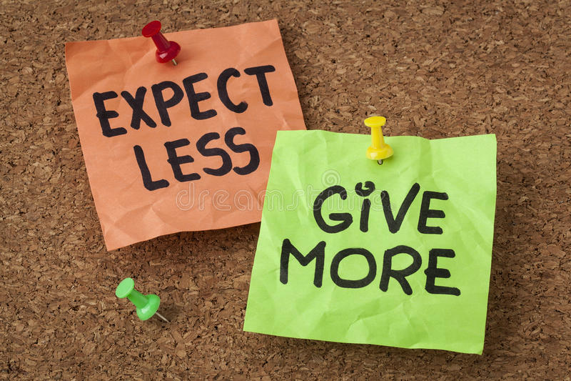 Download Expect Less, Give More Stock Photos - Image: 31363753