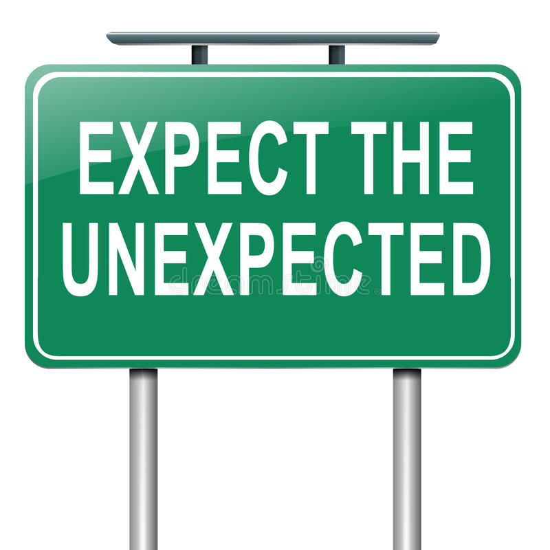 Expect the unexpected. royalty free illustration