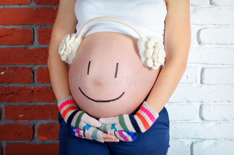 Expectant mother royalty free stock photo