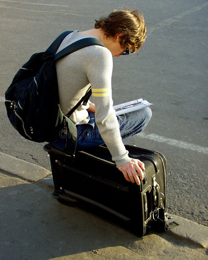Download Expectation of a train stock image. Image of railway, suitcase - 610531