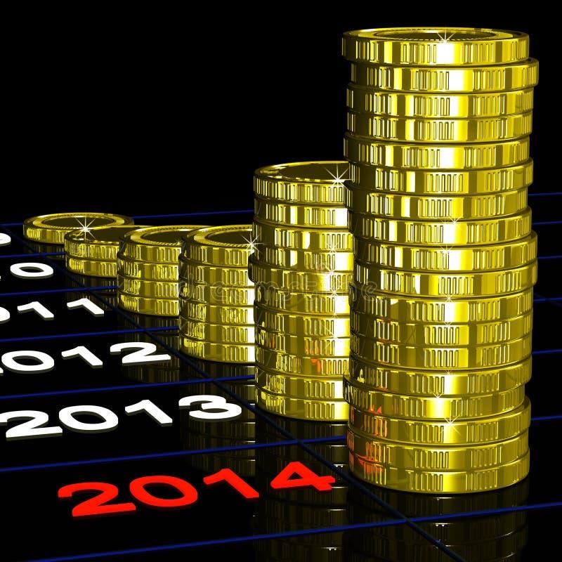 Expectativas financeiras das mostras das moedas 2014 ilustração royalty free