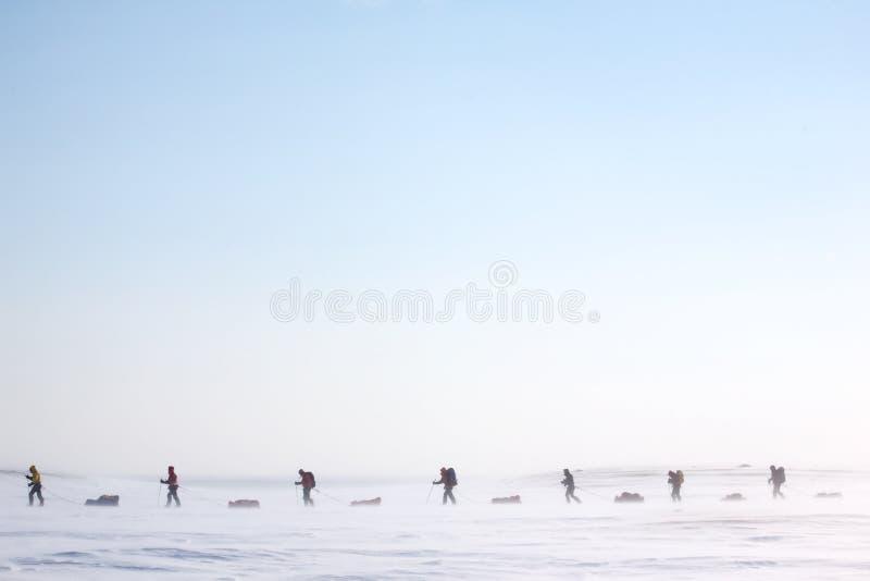 Expedição ártica fotografia de stock