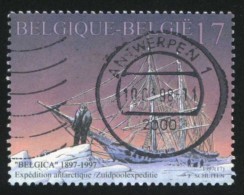 Expedição antártica pelo Belgica foto de stock