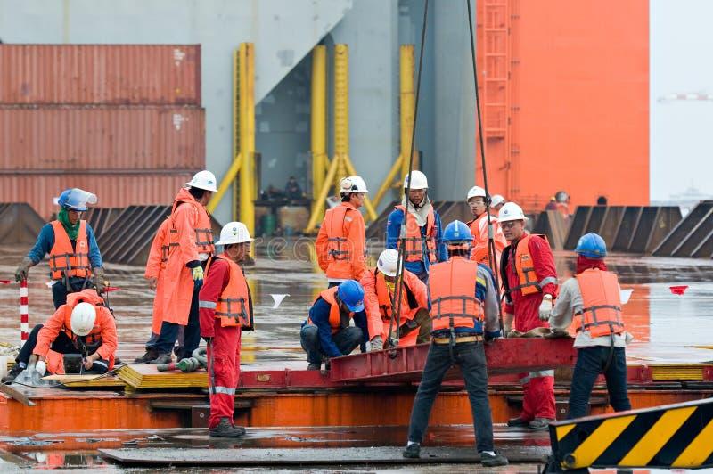 Expedição do módulo da plataforma petrolífera de Tailândia a Noruega imagens de stock royalty free