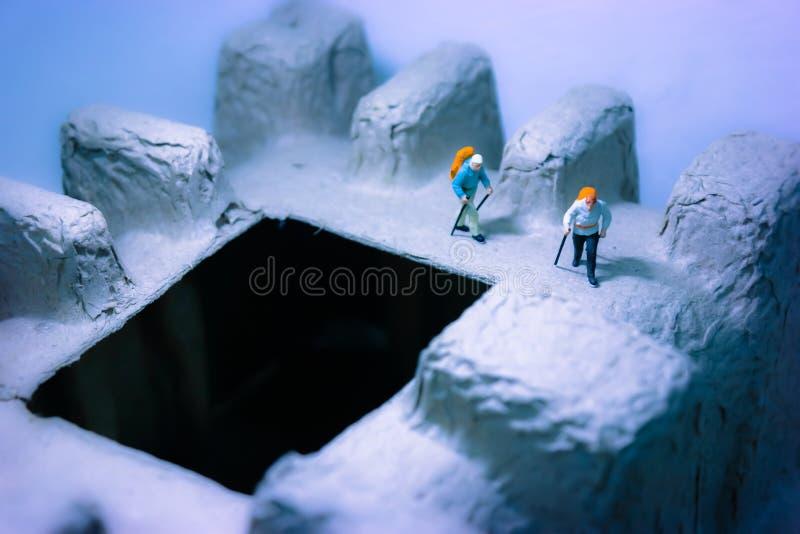 Expedición del viajero del valle del hielo imagenes de archivo