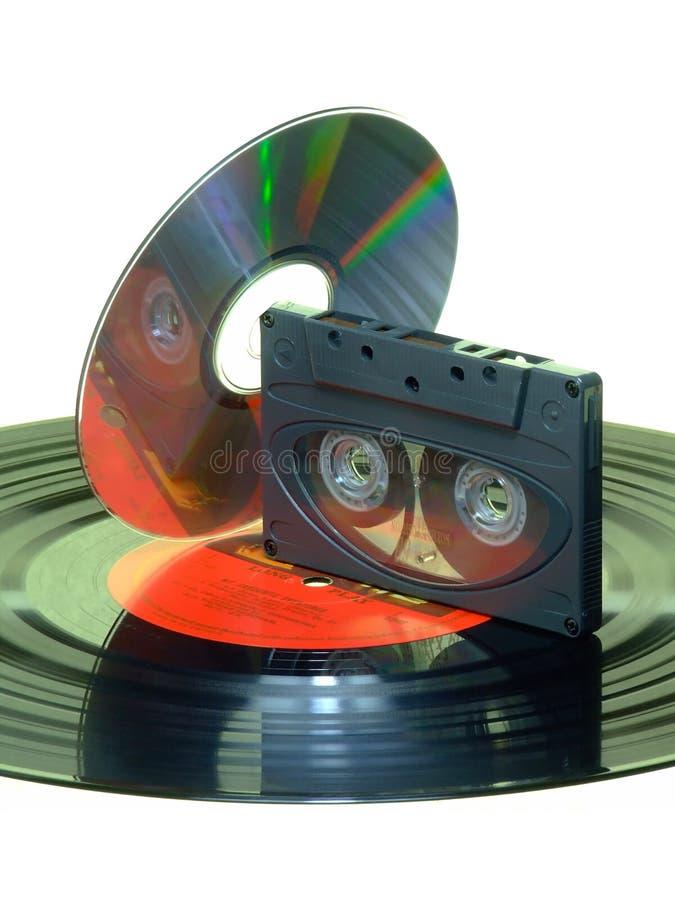 Expediente/cassette/CD fotos de archivo libres de regalías