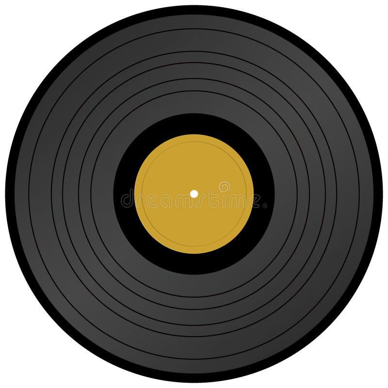 Expediente de vinilo del disco de larga duración stock de ilustración