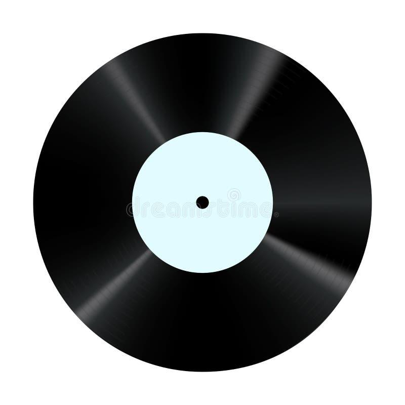 Expediente de vinilo Portador sano retro Placa para el rasguño de DJ ilustración del vector