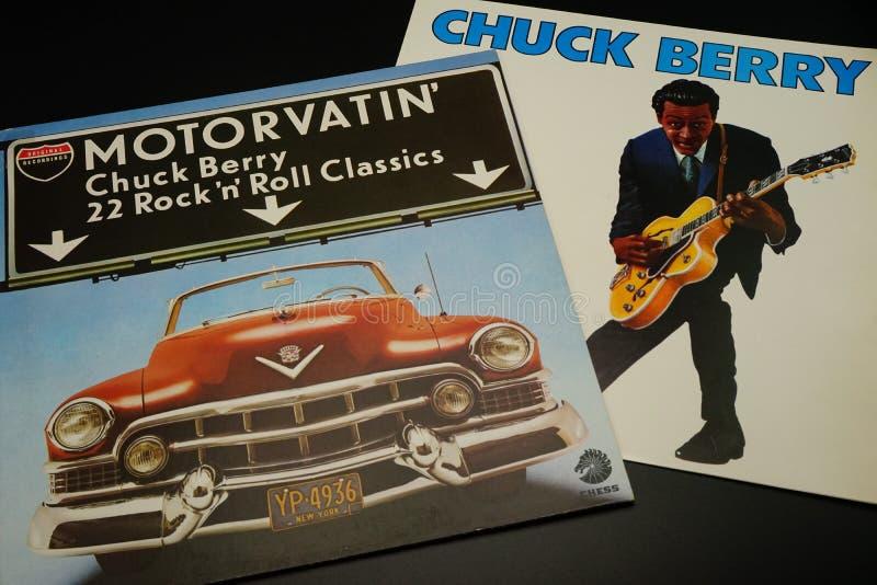 Expedientes de Chuck Berry, obras clásicas del rock-and-roll imagen de archivo