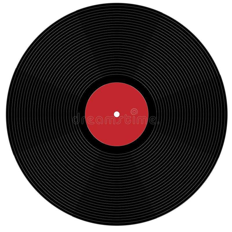 Expedientes de fonógrafo grandes stock de ilustración