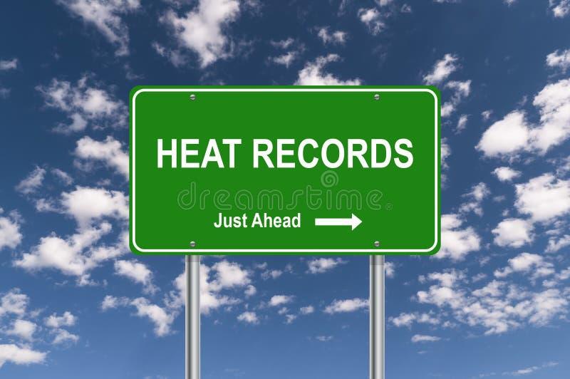 Expedientes del calor fotografía de archivo libre de regalías