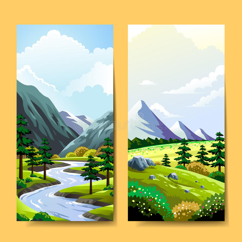 Expedition banner design royalty free illustration