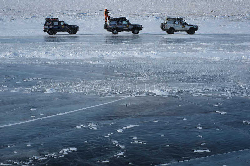 Expedition cars stock image
