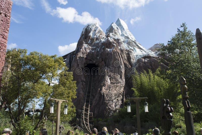 Expedition Everest im Disney-Tierkönigreich stockbilder