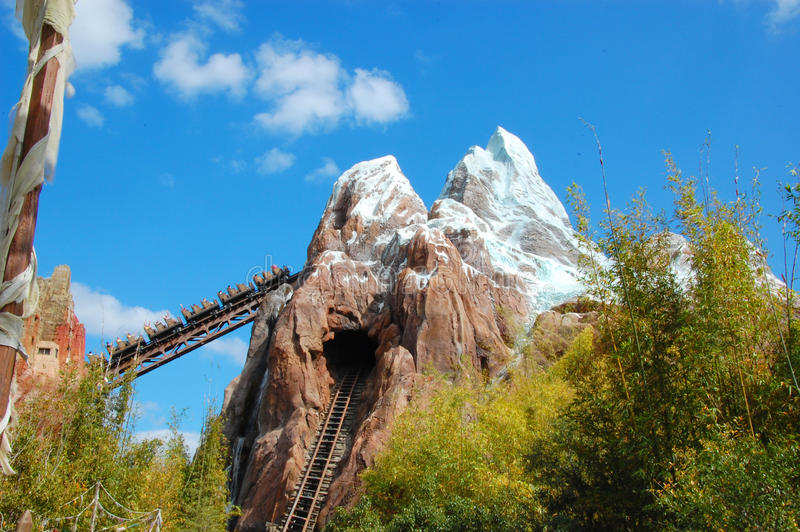 Download Expedition Everest editorial stock image. Image of ride - 30517904