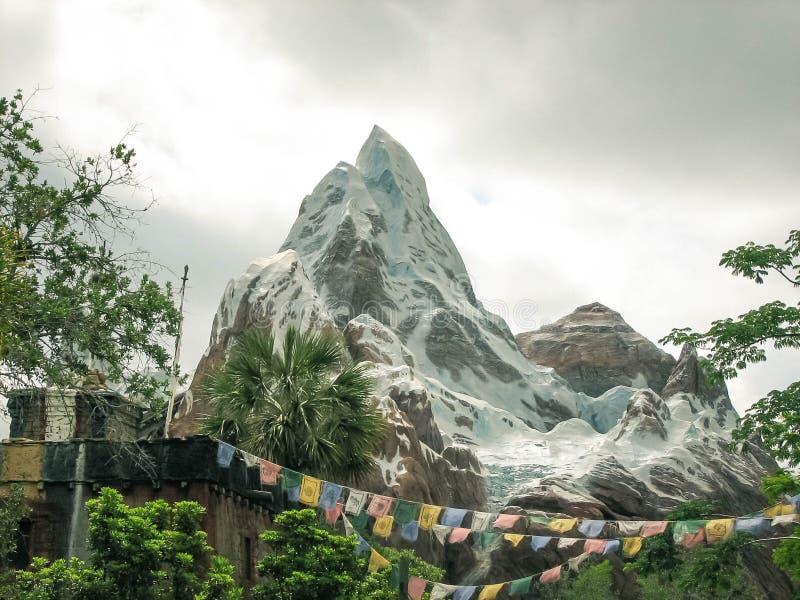 Expedition Everest Walt Disney World Landscape arkivbilder