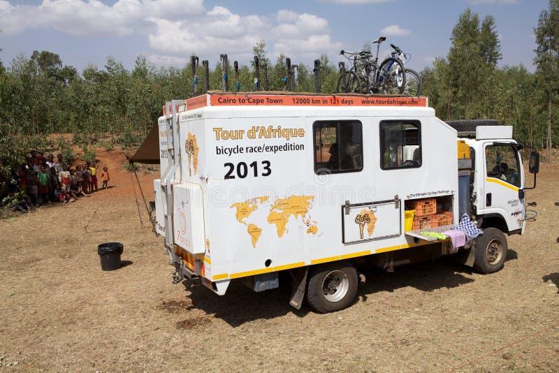 Expedition för Afrika cykelrace royaltyfria foton