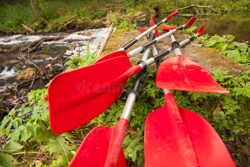 Expedition to kayaking. Summer expedition to kayaking the river flowing royalty free stock image