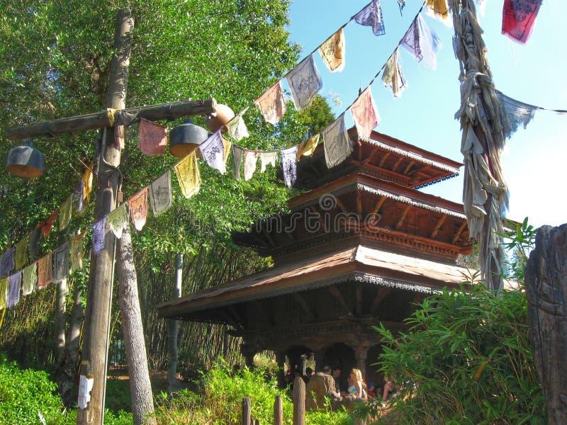 ExpeditionEverest tempel, Disney värld royaltyfri foto