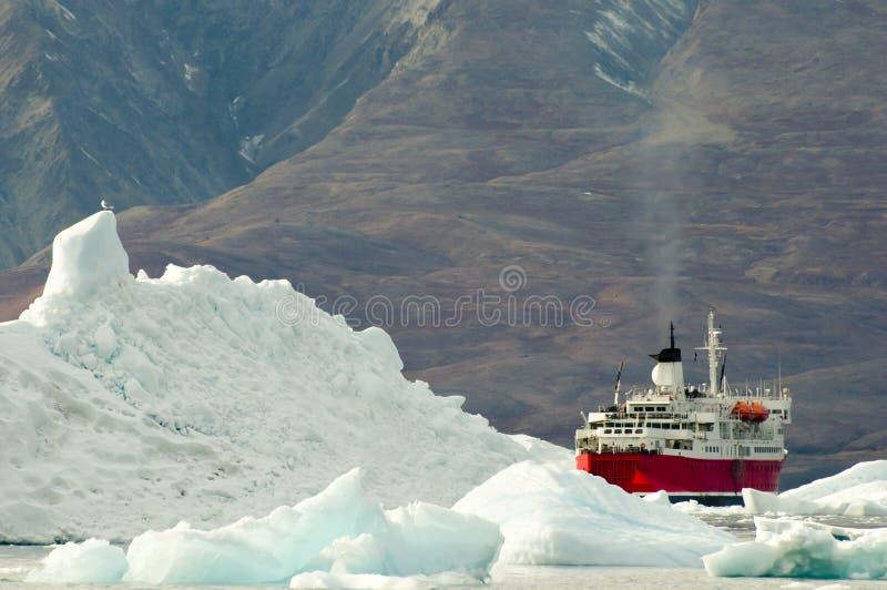 Expeditions-Schiff - Grönland lizenzfreies stockbild