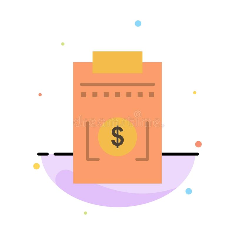 Expense, Business, Dollar, Money Abstract Flat Color Icon Template royalty free illustration