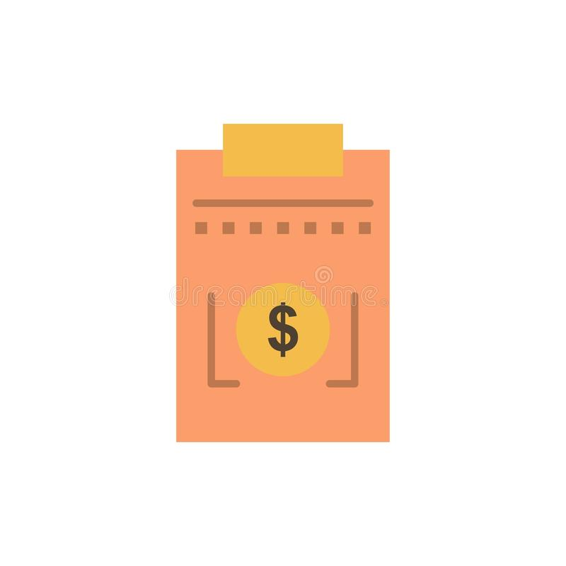 Expense, Business, Dollar, Money  Flat Color Icon. Vector icon banner Template royalty free illustration