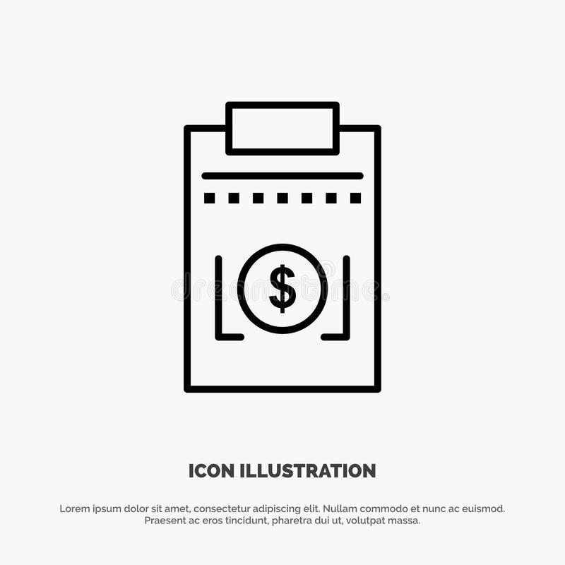 Expense, Business, Dollar, Money Line Icon Vector royalty free illustration