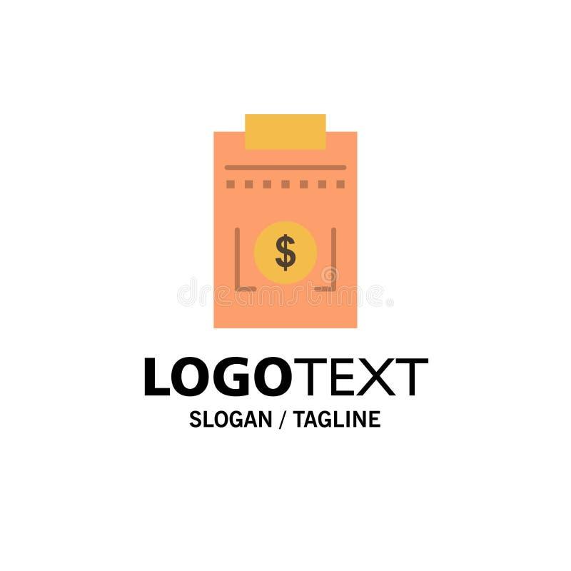 Expense, Business, Dollar, Money Business Logo Template. Flat Color vector illustration