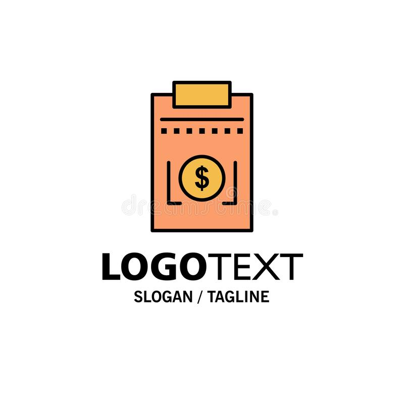 Expense, Business, Dollar, Money Business Logo Template. Flat Color stock illustration