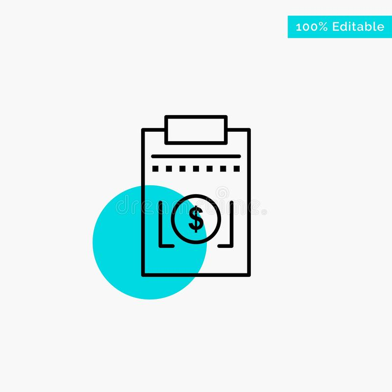 Expense, Business, Dollar, Money turquoise highlight circle point Vector icon vector illustration
