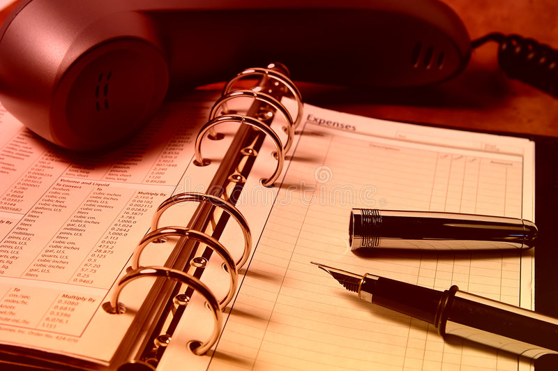 Expense Log royalty free stock images