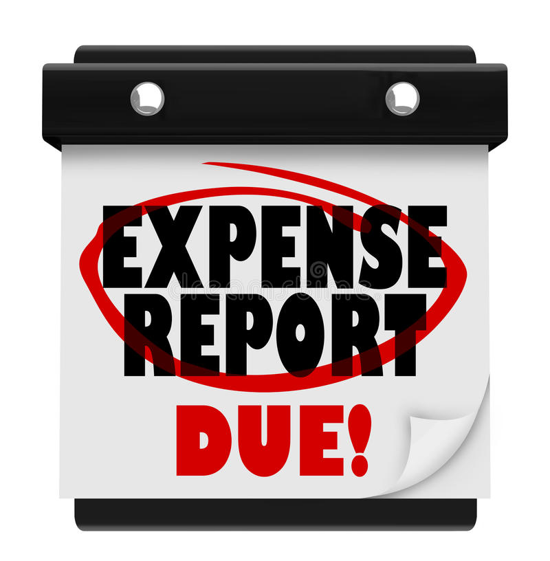 Expense Report Due Date Calendar Deadline Submit Stock