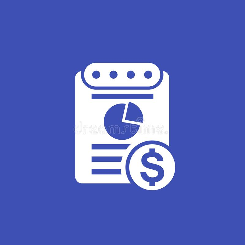 Expense report vector icon. Eps 10 file, easy to edit royalty free illustration