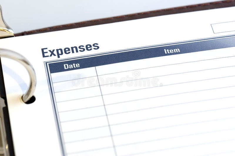 Expense Sheet Stock Photo Image Of Dayplanner Outline