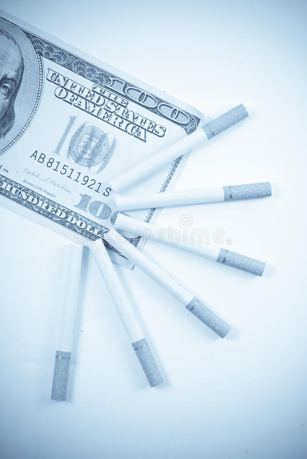 The Expenses Of Smoking Stock Photography