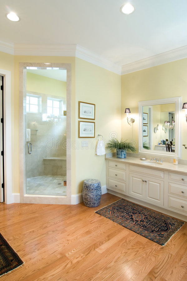 Expensive bathroom stock photography