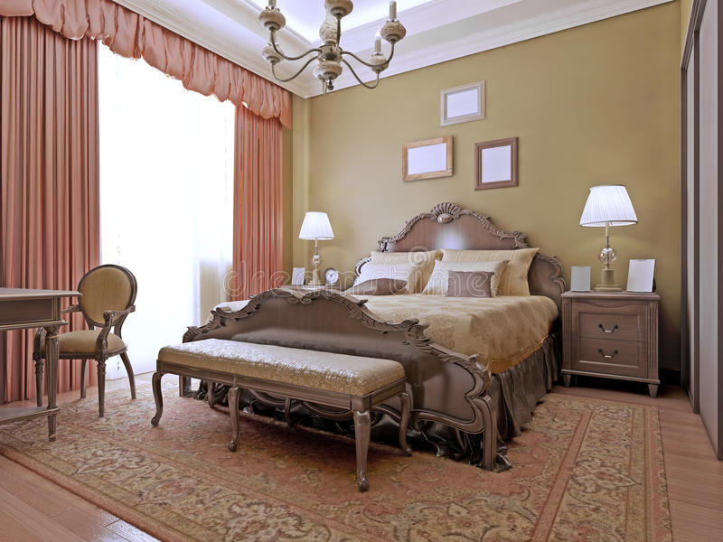Download Expensive Bedroom Art Deco Style Stock Photo