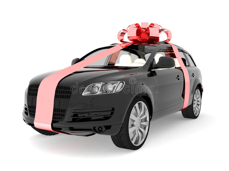 Download Expensive Car For Sale Or Gift Stock Illustration - Image: 8324506